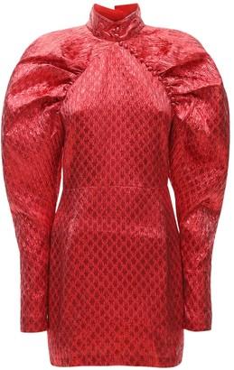 Rotate by Birger Christensen Lvr Exclusive Kim Lurex Mini Dress