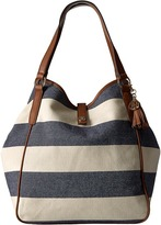 Tommy Hilfiger Hazel Tote Woven Rugby Canvas