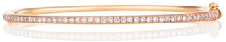 De Beers Rose Gold and Micropave Diamond Bangle