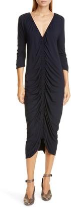 Zero Maria Cornejo Kiara Ruched Jersey Midi Dress