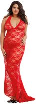 Dreamgirl Women's Plus Size Stretch Lace Gown Bridal Set