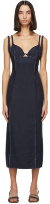 Jacquemus Navy La Robe Valerie Dress