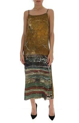 UMA WANG Graphic Print Slip Dress