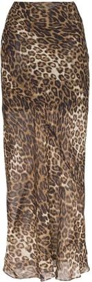 Nili Lotan Ella leopard print maxi skirt