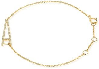 Ron Hami 14K Yellow Gold Diamond Initial Pendant Bracelet - 0.12-0.20 ctw