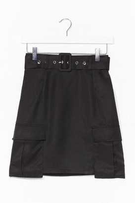 Nasty Gal Womens Pocket It Off Belted Mini Skirt - Black