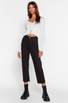 Nasty Gal Pit Stop Cropped Jeans