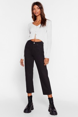 Nasty Gal Womens Pit Stop Cropped Jeans - Black - 12, Black