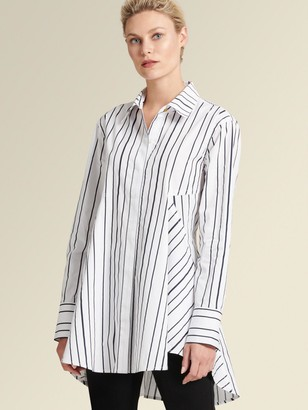 DKNY Flared Stripe Button-up Shirt