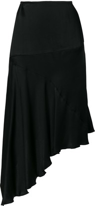 Romeo Gigli Pre-Owned Fluid Asymmetric Skirt