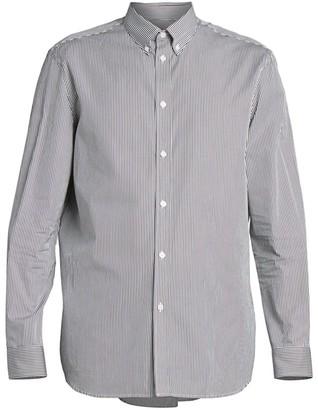 Givenchy Logo Patch Striped Shirt