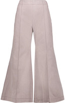 Acne Studios Olexa Cropped Cotton-Twill Wide-Leg Pants