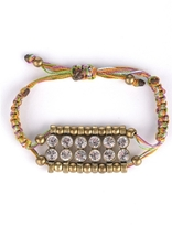 Crystal & Multi-Color Adjustable Bracelet