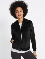 Marks and Spencer Velour Hooded Neck Long Sleeve Jacket