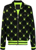 Philipp Plein skull embroidered jogging jacket