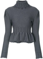 Lemaire frill-hem knitted roll-neck sweater