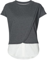 Derek Lam 10 Crosby Faux 2-In-1 Crossover Tank With Buttons