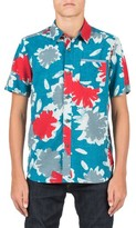 Volcom Boy's Ballast Short Sleeve Woven Shirt