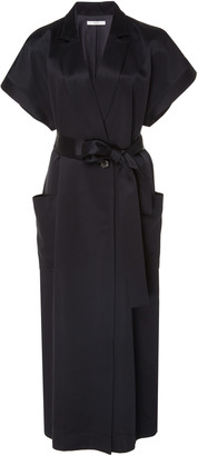 Co Belted Satin Wrap Dress