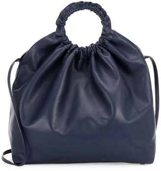 The Row XL Double Circle Leather Hobo Bag