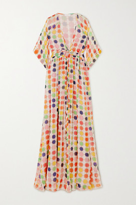 Eywasouls Malibu Liliane Printed Chiffon Maxi Dress - Peach