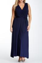 Loveappella Flared Maxi Dress (Plus Size)