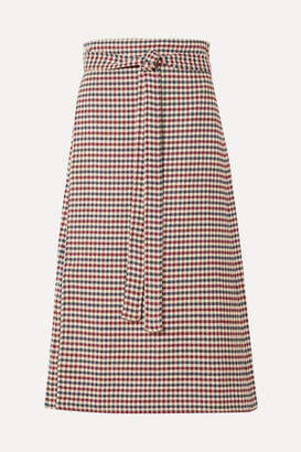 Sea Petra Checked Woven Wrap Skirt - Red