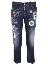 DSQUARED2 Blue Patches Boyfriend Jeans