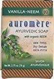 Auromere Ayurvedic Bar Soap Vanilla Neem -- 2.75 oz - 3PC