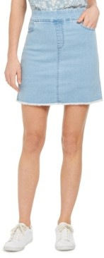Style&Co. Style & Co Pull-On Frayed-Hem Skort, Created for Macy's