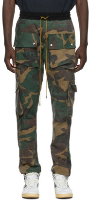Rhude SSENSE Exclusive Green Camo Rifle Cargo Pants