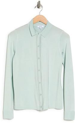Reiss Ida Long Sleeve Fine Knit Shirt
