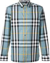 Burberry checked shirt - men - Cotton/Spandex/Elastane/Polyimide - M
