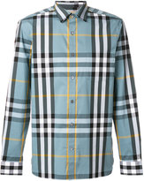 Burberry checked shirt - men - Cotton/Spandex/Elastane/Polyimide - XL