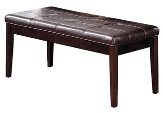 Simoneaux Faux Leather Bench Red Barrel Studio