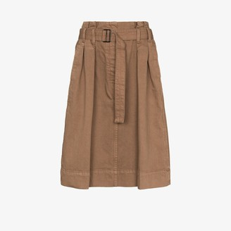 Lemaire Pleat-Detailing Knee-Length Skirt