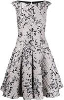 Talbot Runhof jacquard flared dress