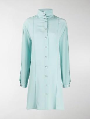 Lemaire High Collar Silk Dress