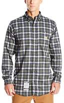 Carhartt Men's Big & Tall Flame Resistant Classic Plaid Long Sleeve Woven Shirt