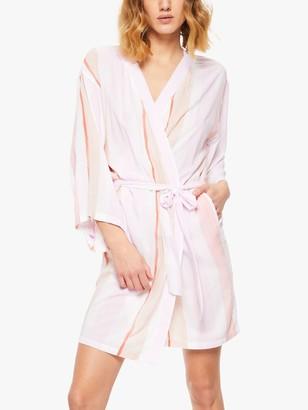 Passionata Hello Striped Dressing Gown, Pastel