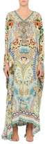 Camilla The Blue Market Split Front And Sleeve Kaftan