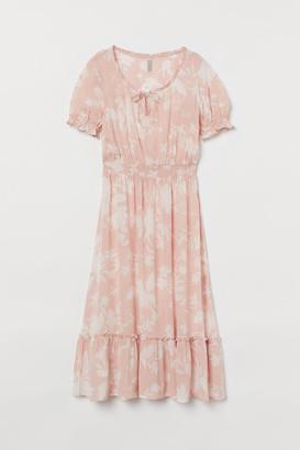 H&M Smock-detail Dress - Pink