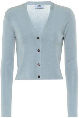 Prada Cashmere and silk cropped cardigan