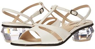 Marc Jacobs The Gem Sandal 40 mm (Silver) Women's Shoes