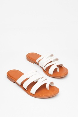 Nasty Gal Womens From Head to Toe Flat Strappy Sandals - White