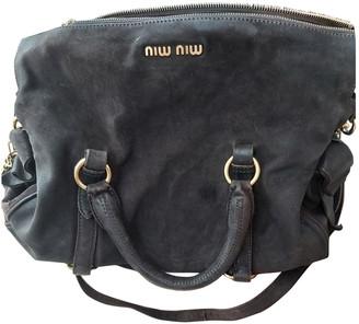 Miu Miu Bow bag Brown Suede Handbags