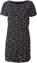 Les Copains flocked effect dress