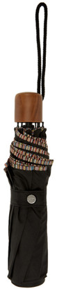 Paul Smith Black Multi Stripe Telescopic Umbrella