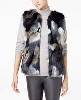 INC International Concepts I.n.c. Multi Patchwork Faux-Fur Vest, Created for Macy's