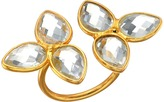 Dee Berkley Gemstone Flower Ring Clear Quartz